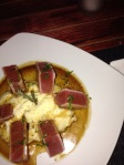 Seared tuna with soy-butter sauce