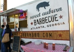 Barbecue truck at Atlanta Food Truck Park.
