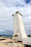 The crooked lighthouse of Puerto Morelos.
