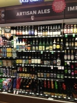 The craft beer section there.