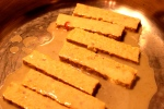 Finishing the tempeh.