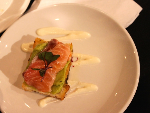 My fave... no bias I swear! The salmon tartare with avocado and creme fraiche at Saege Bistro's booth.