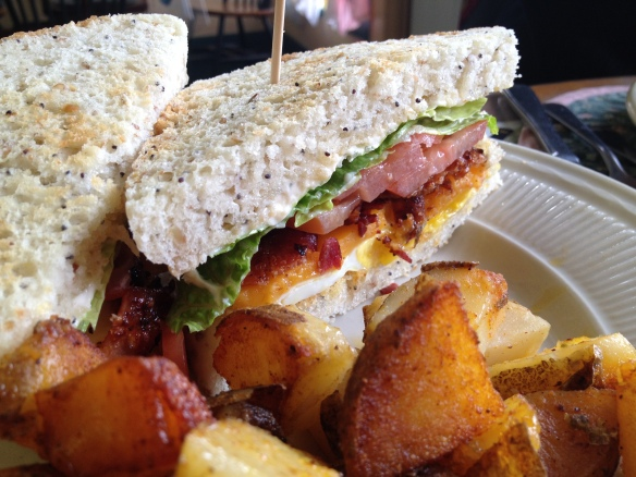 BLT + fried egg at the Tin Pan.