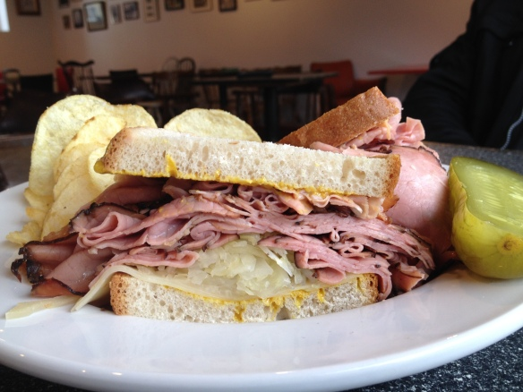 Smoked meat sandwich at Sully's.